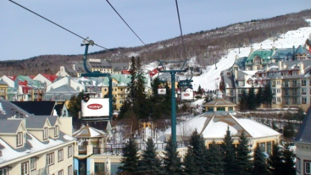 Skiing at Tremblant (c) Andy Mossack