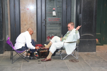 New orleans shoe shine (c) Andy Mossack