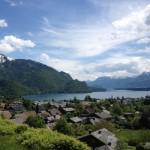 000428 austria salzburg Town and mountain ra s