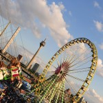 Düsseldorf's Biggest Fun Fair On The Rhine Festival