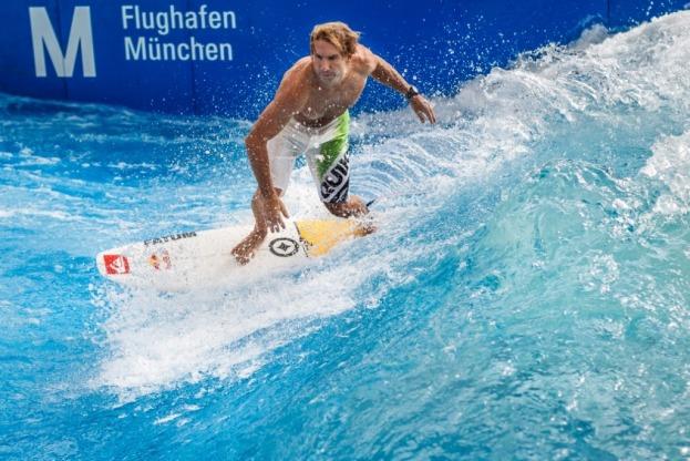 Surfing at Munich Airport courtesy Munich Airport
