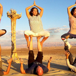 Yoga comes to the Arava Desert