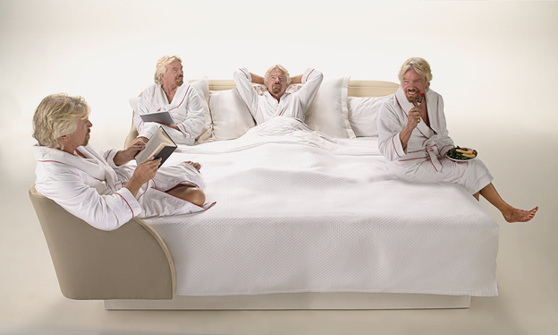 VH Sir Richard Branson on the bed TO ISSUE