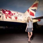 Georgia May Jagger launches British Airways GREAT aircraft in style