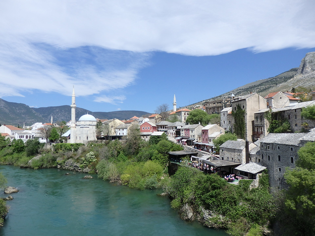 Mostar view from the bridge