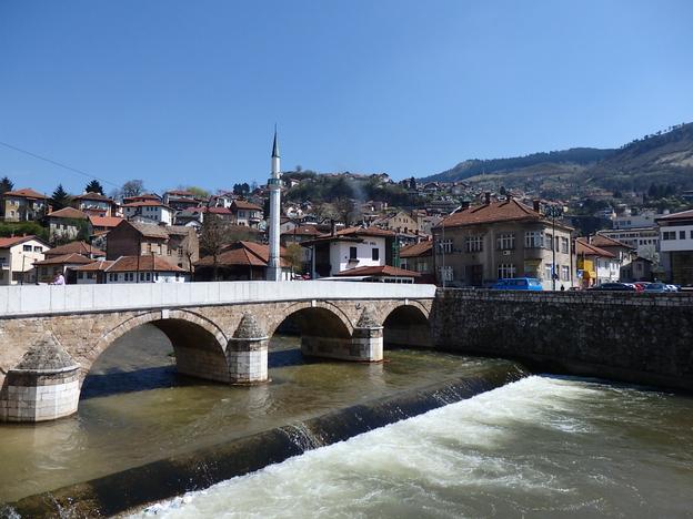 Sarajevo bridge view