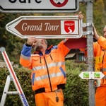 Grand Tour of Switzerland road signs completed