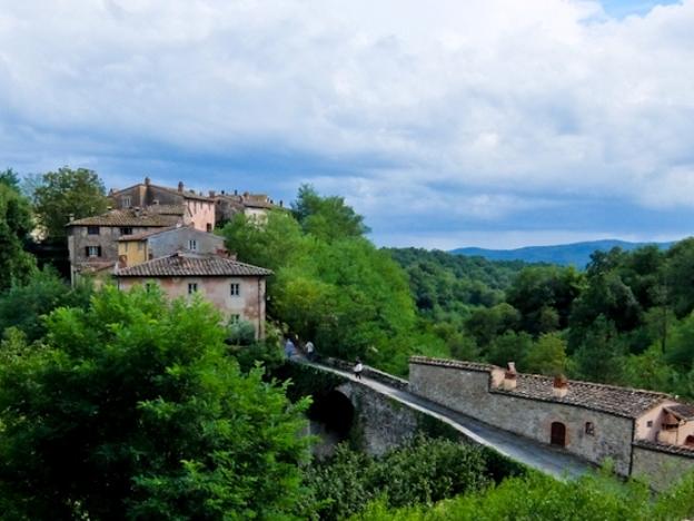 Il Borro Village with Bridge