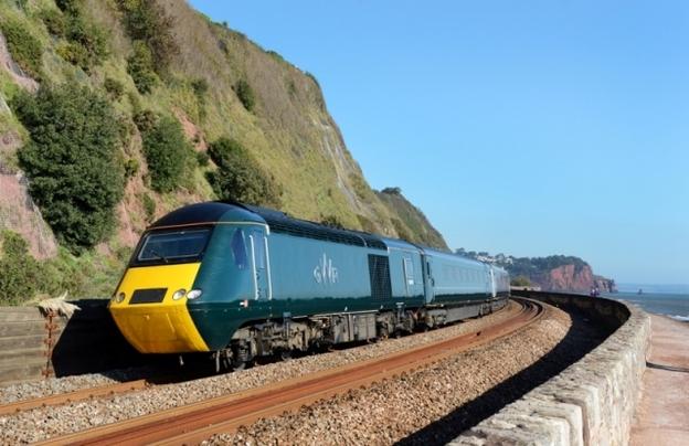Green train Dawlish