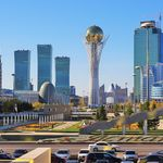 The two capitals of Kazakhstan