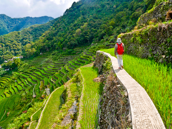 Walking Batad Rice Terraces