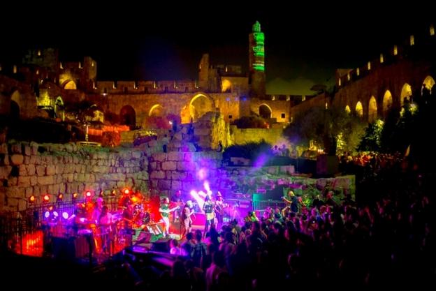 Mekudeshet music inside Tower of David