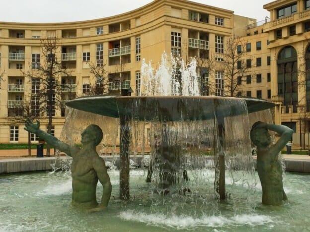 Montpellier Antigone fountain
