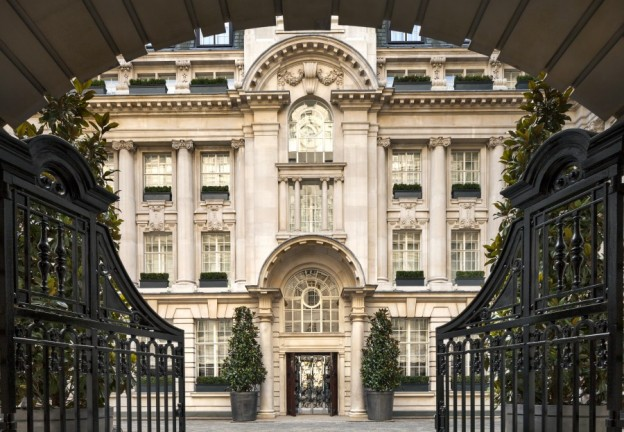 Rosewood London Entrance Wrought Iron Gates