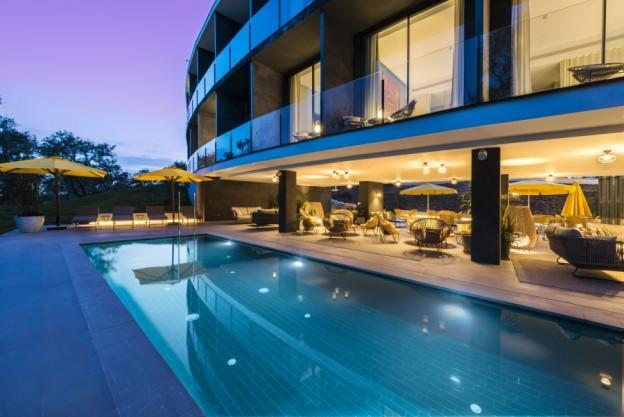 MVC181110280 Hotel La Vida Pool at Sunset