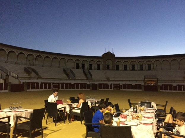 Dining in Antequera bull ring