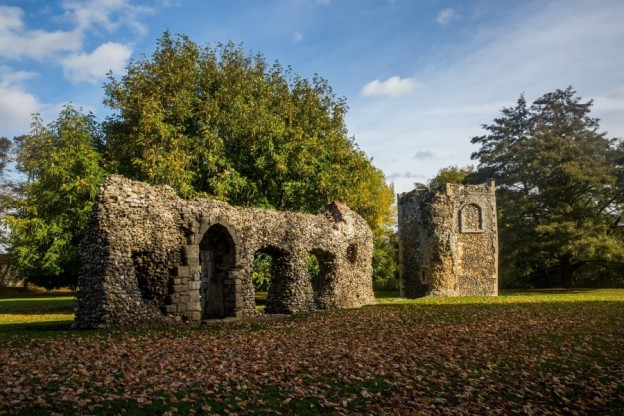 Abbey Ruins in autumn Bury St Edmunds credit Shawn Pearce