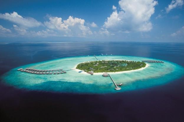 Aerial view of JA Manafaru Maldives