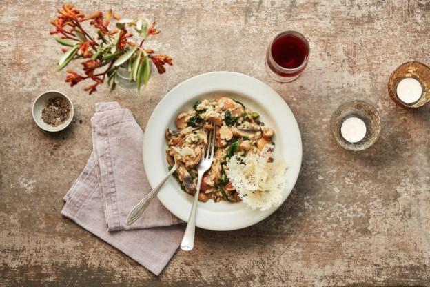 Carluccios porcini and portobello risotto