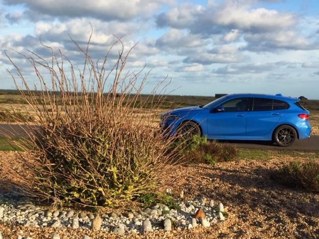 BMW1 outside Derek Jarmans garden