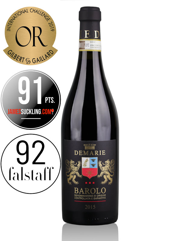 Red wine Demarie Barolo DOCG 2015 Piemonte Italy
