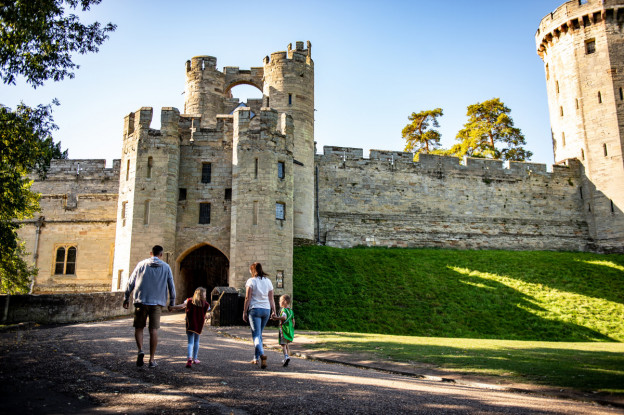 Family at Warwick Castle