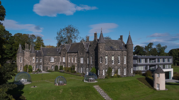 Drone of domes estate wing manor house