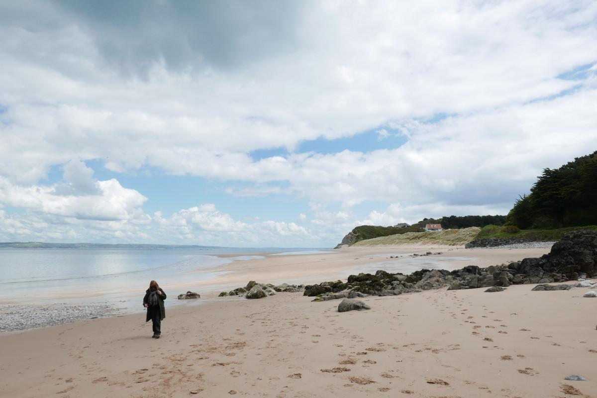Wide open beach on Caldey Island