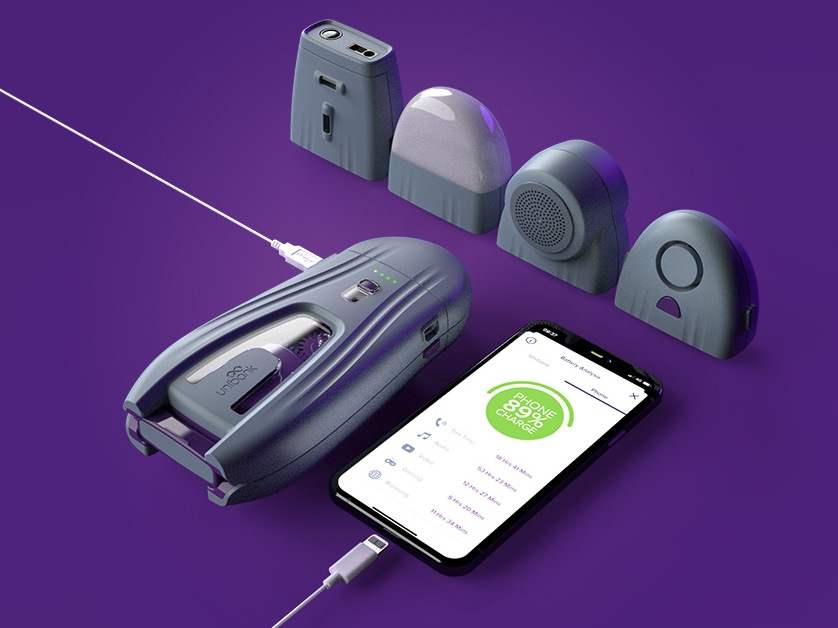unibank power bank and attachments