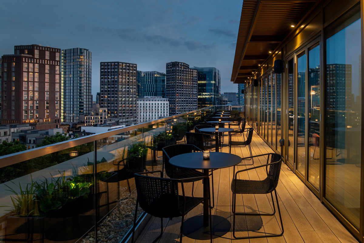 Hyatt Place London City East views from Pocketsquare Skyline Bar and Terrace