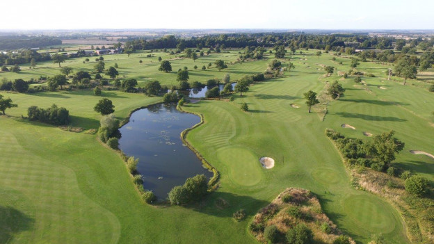 Golf course drone view Whittlebury Park