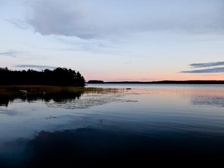 Pyhajarvi Lake Sunset